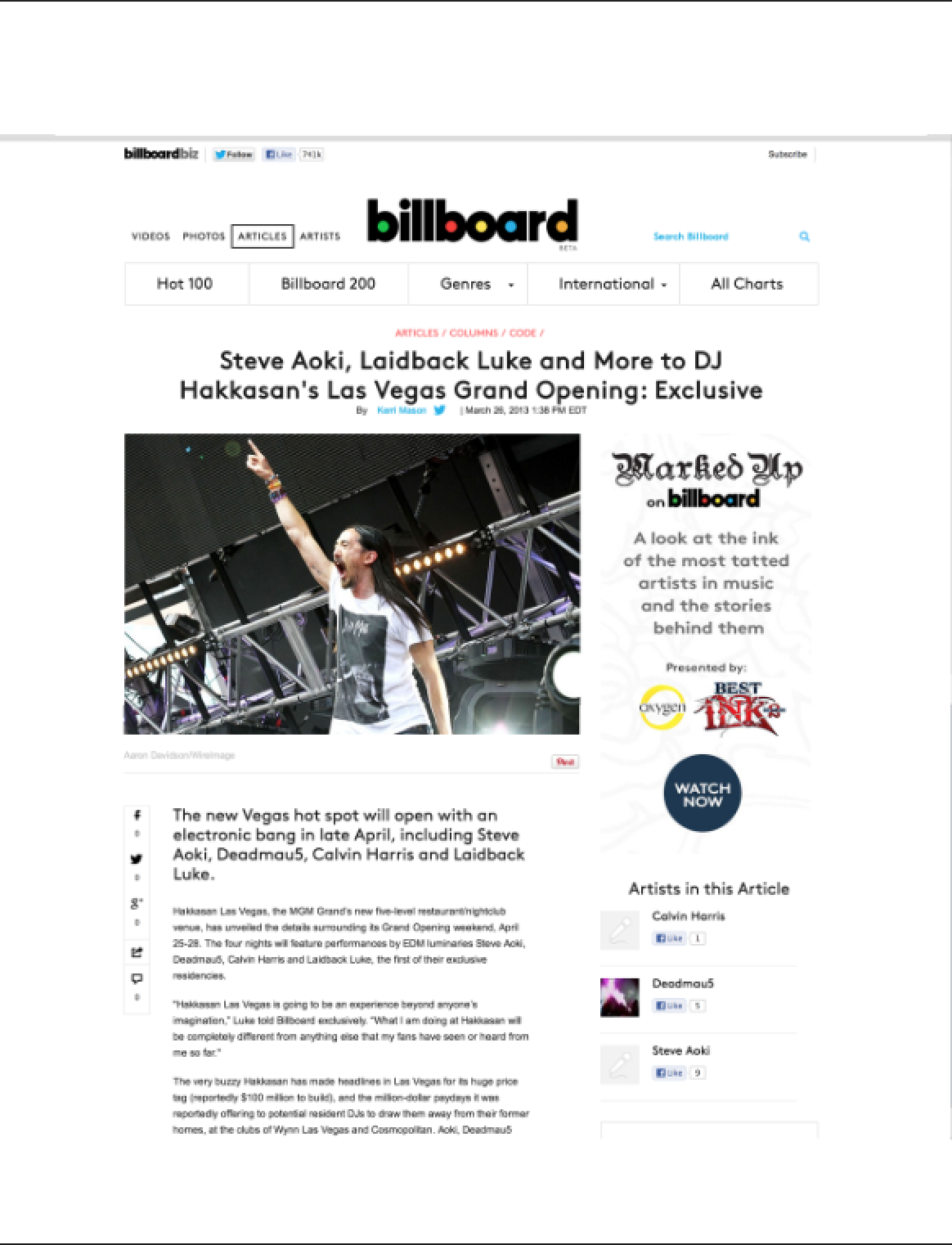 Steve Aoki  Ultra Photo Billboard.com