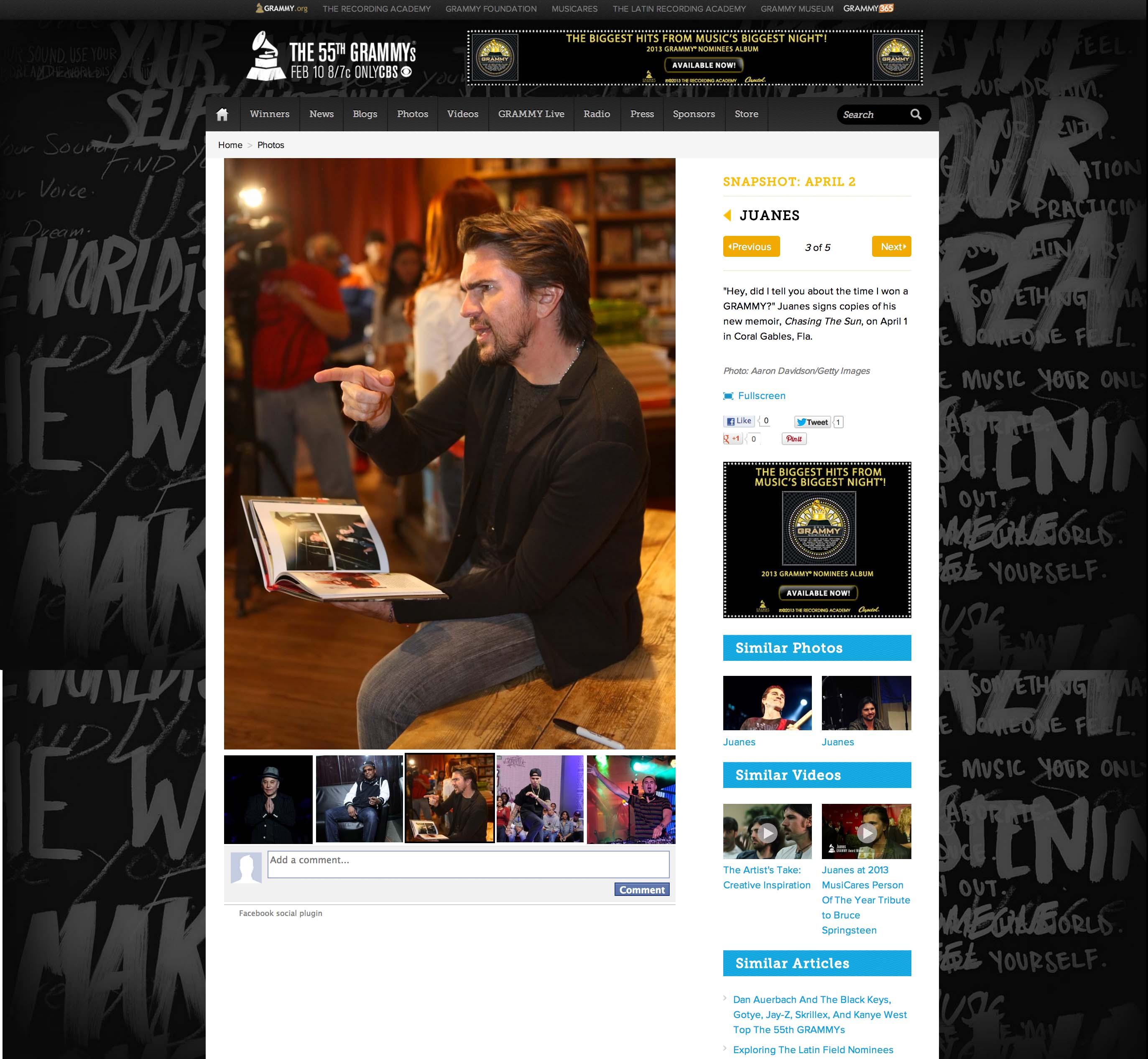 JUANES Grammy.com