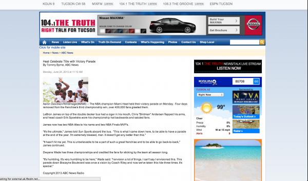 Dwayne Wade on Easy Idaho News miami