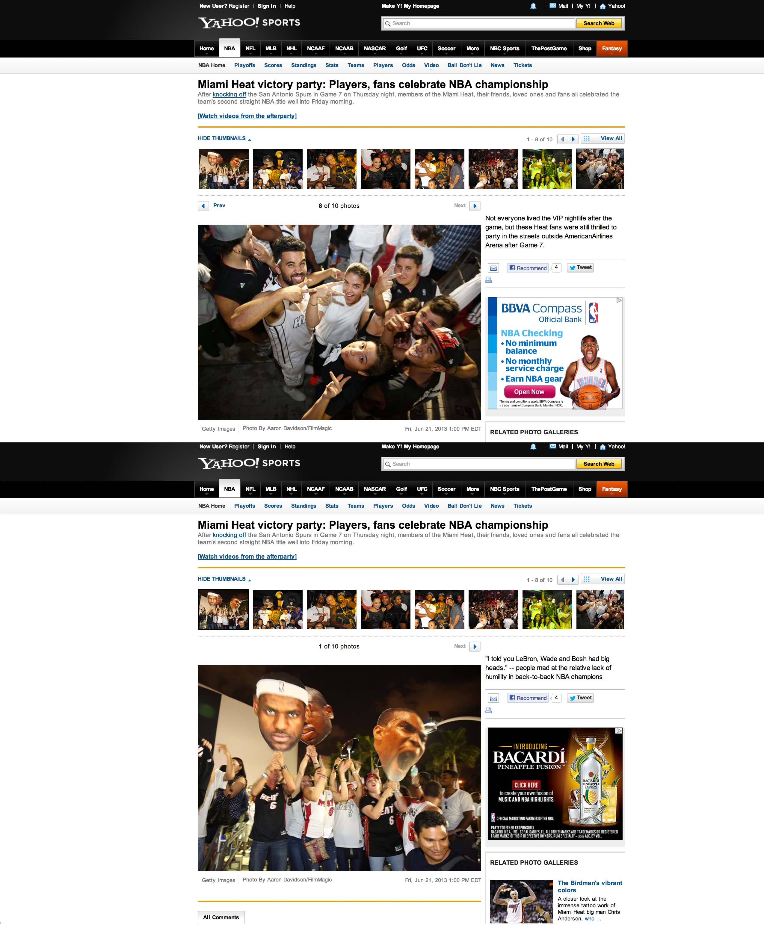 Miami Heat Fans on Yahoo Sports
