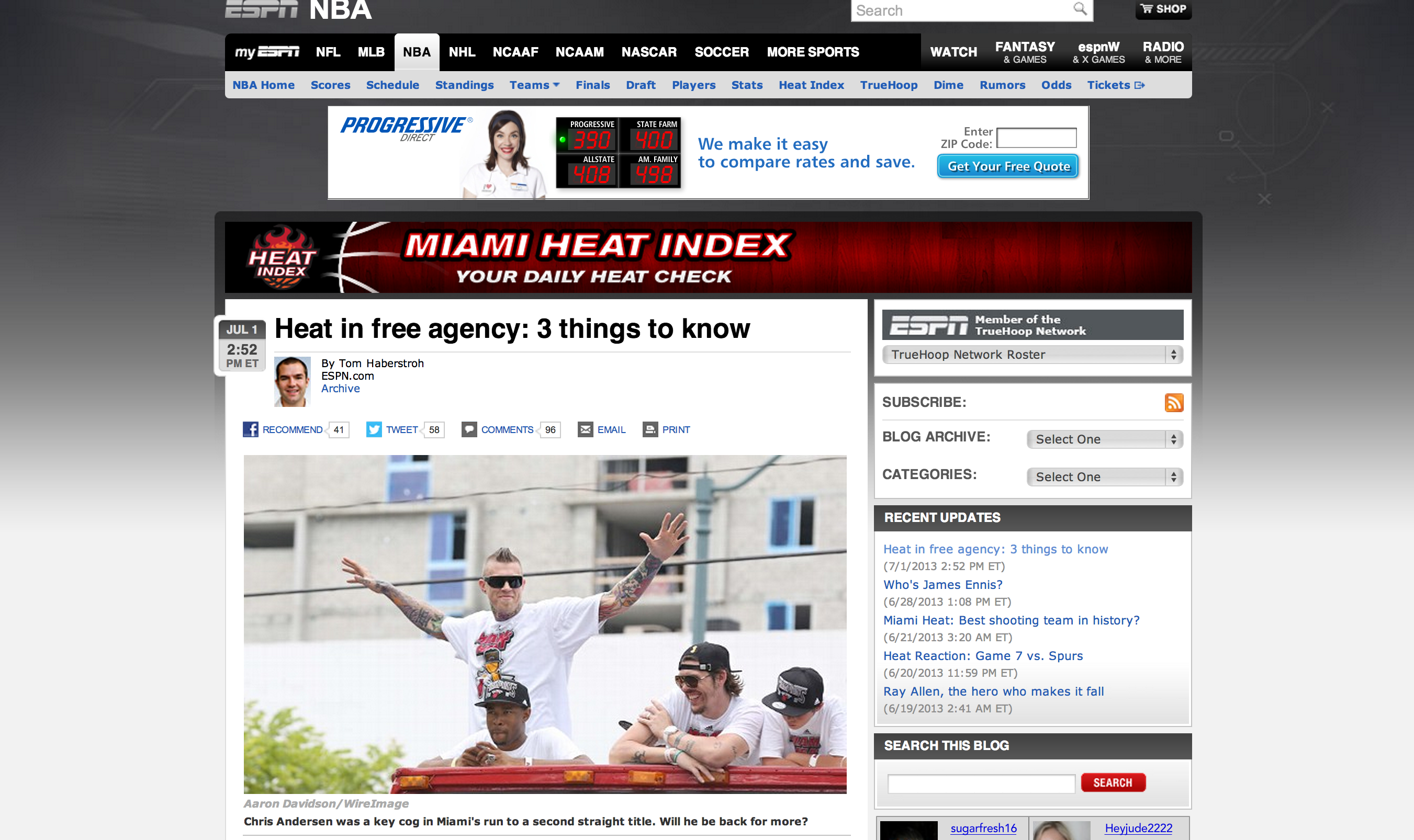 chris andersen miami heat championship