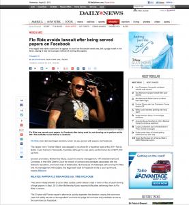 NY Daily News – Flo Rida miami