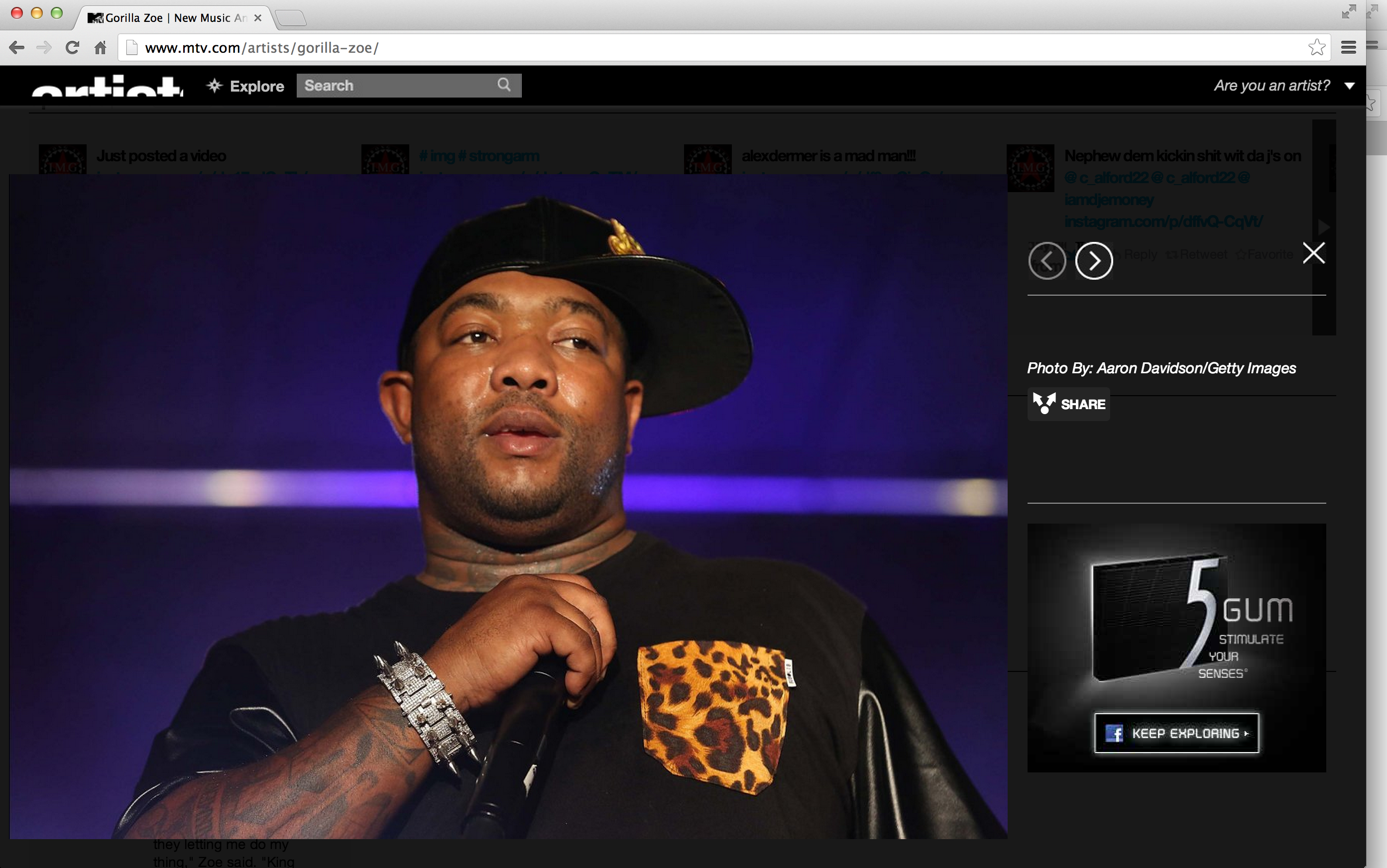 Gorilla Zoe on mtv.com miami