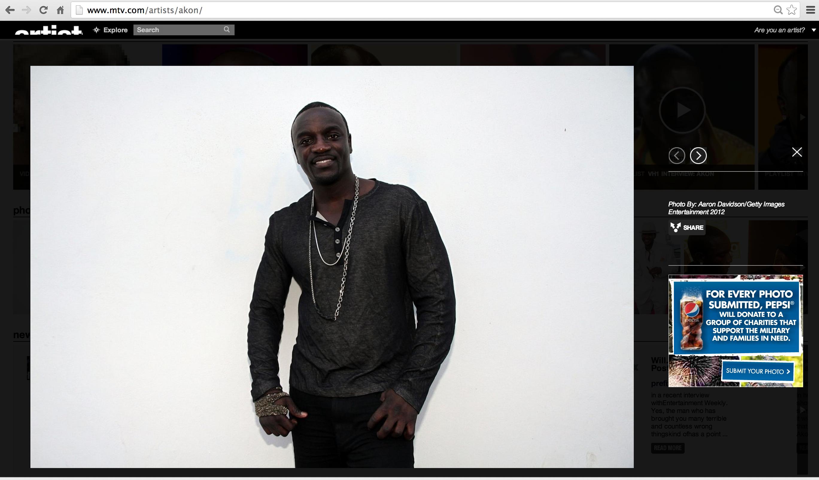 Akon on mtv.com miami