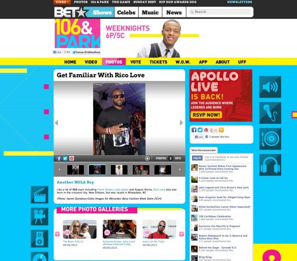 Rico Love BET x 106 & park miami
