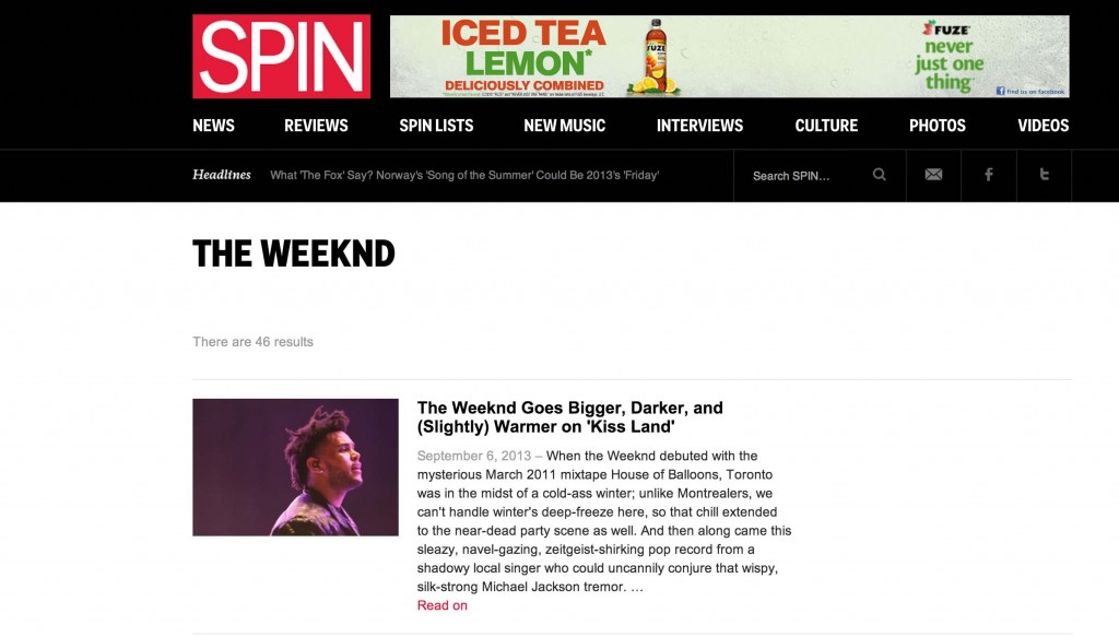 The Weeknd Spin Magazine miami