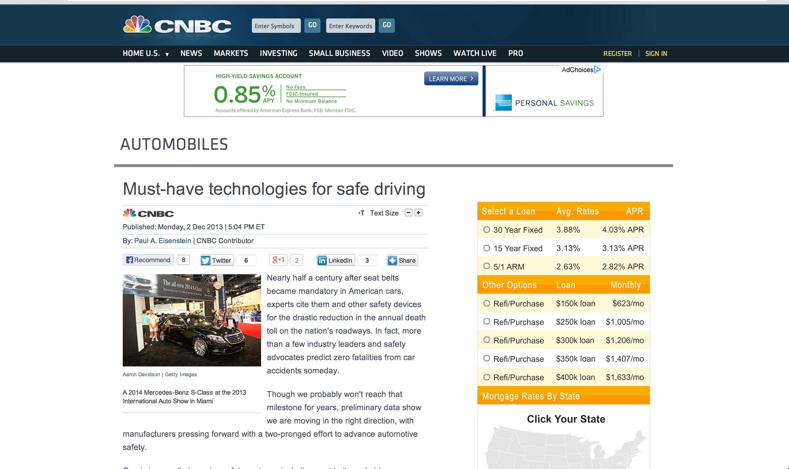 CNBC – Must-have technologies for safe driving