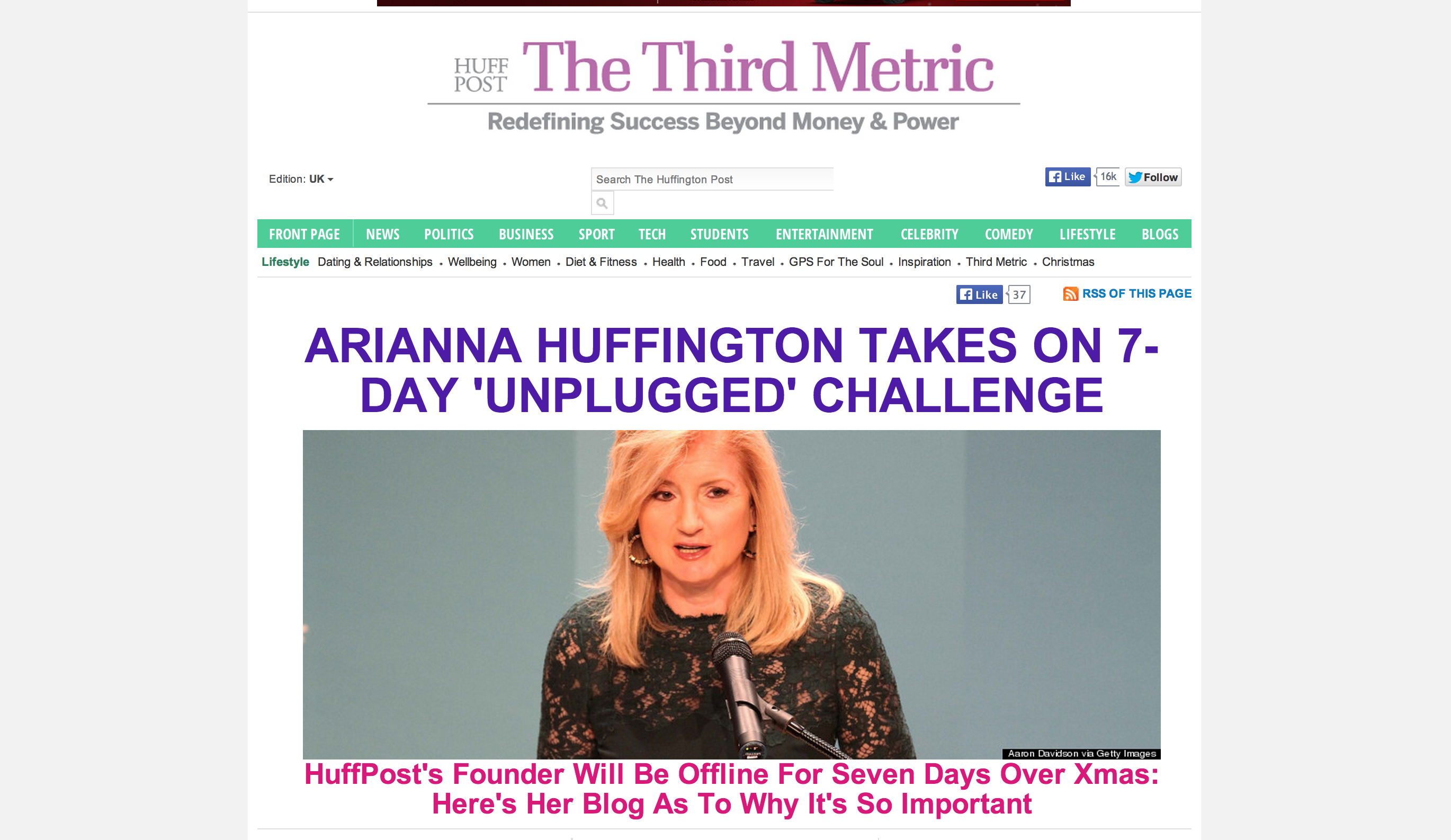 Arianna Huffington Huffington Post Miami