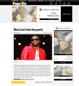 Rico Love Page Six New York Post miami