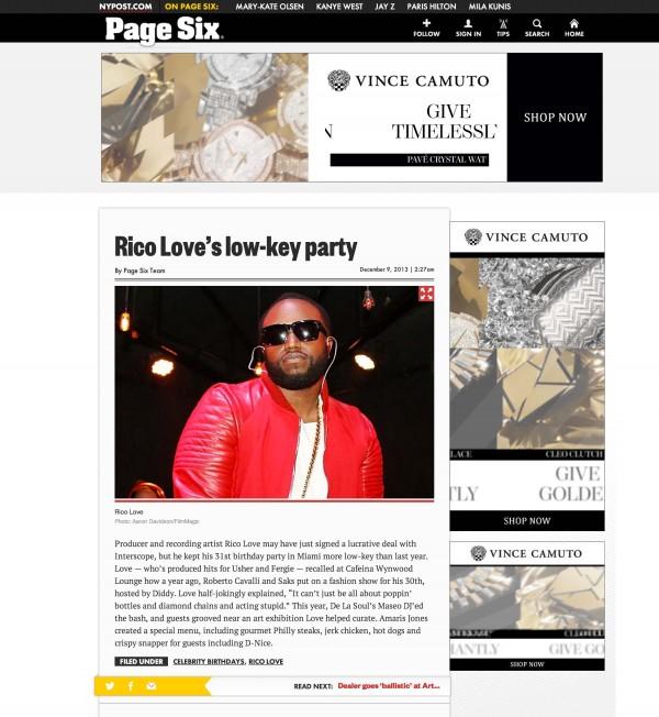 Rico Love Page Six New York Post miami