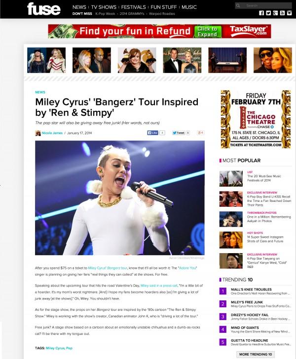 Miley Cyrus Fuse Miami