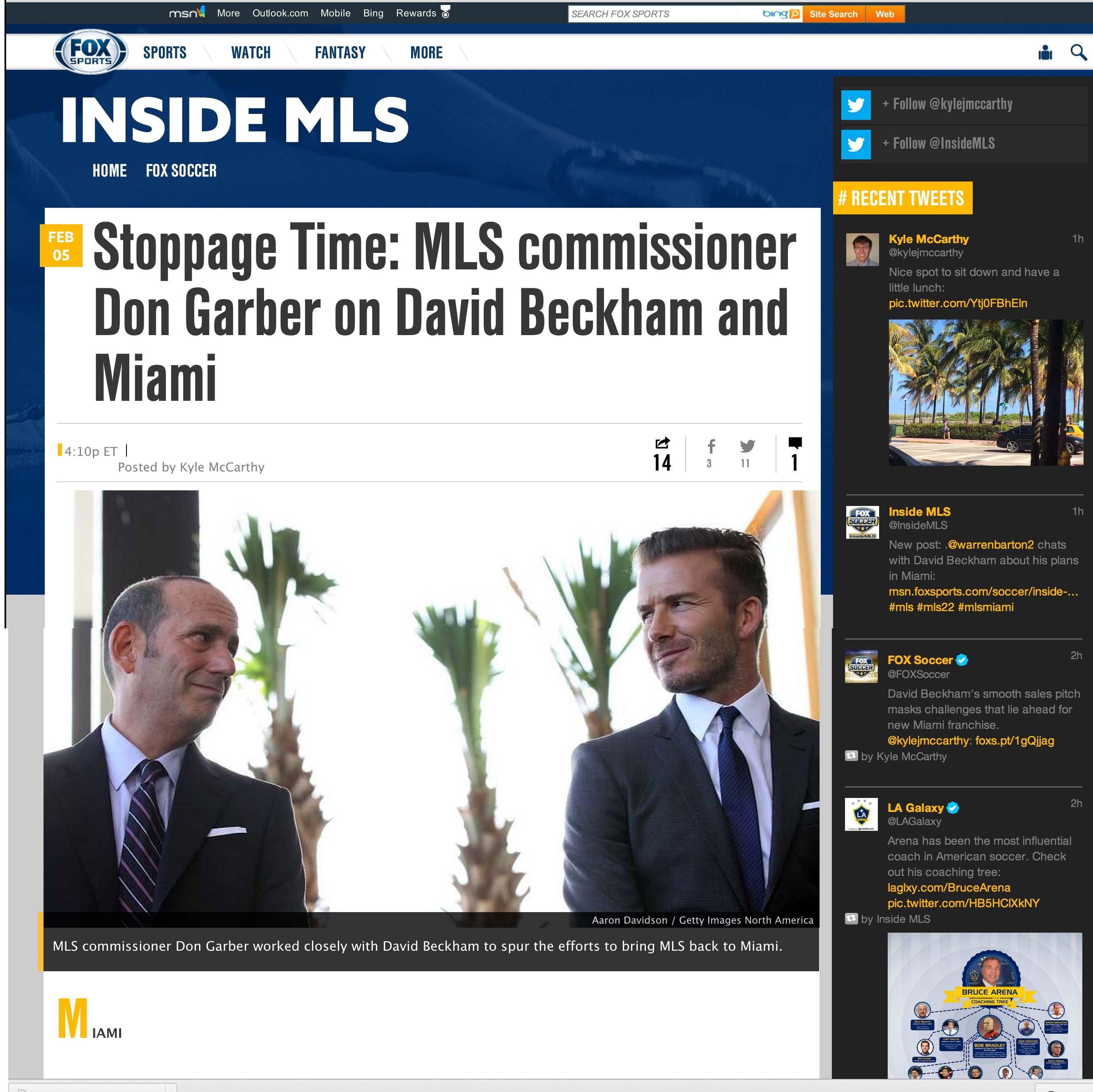 David Beckham Fox News Sports