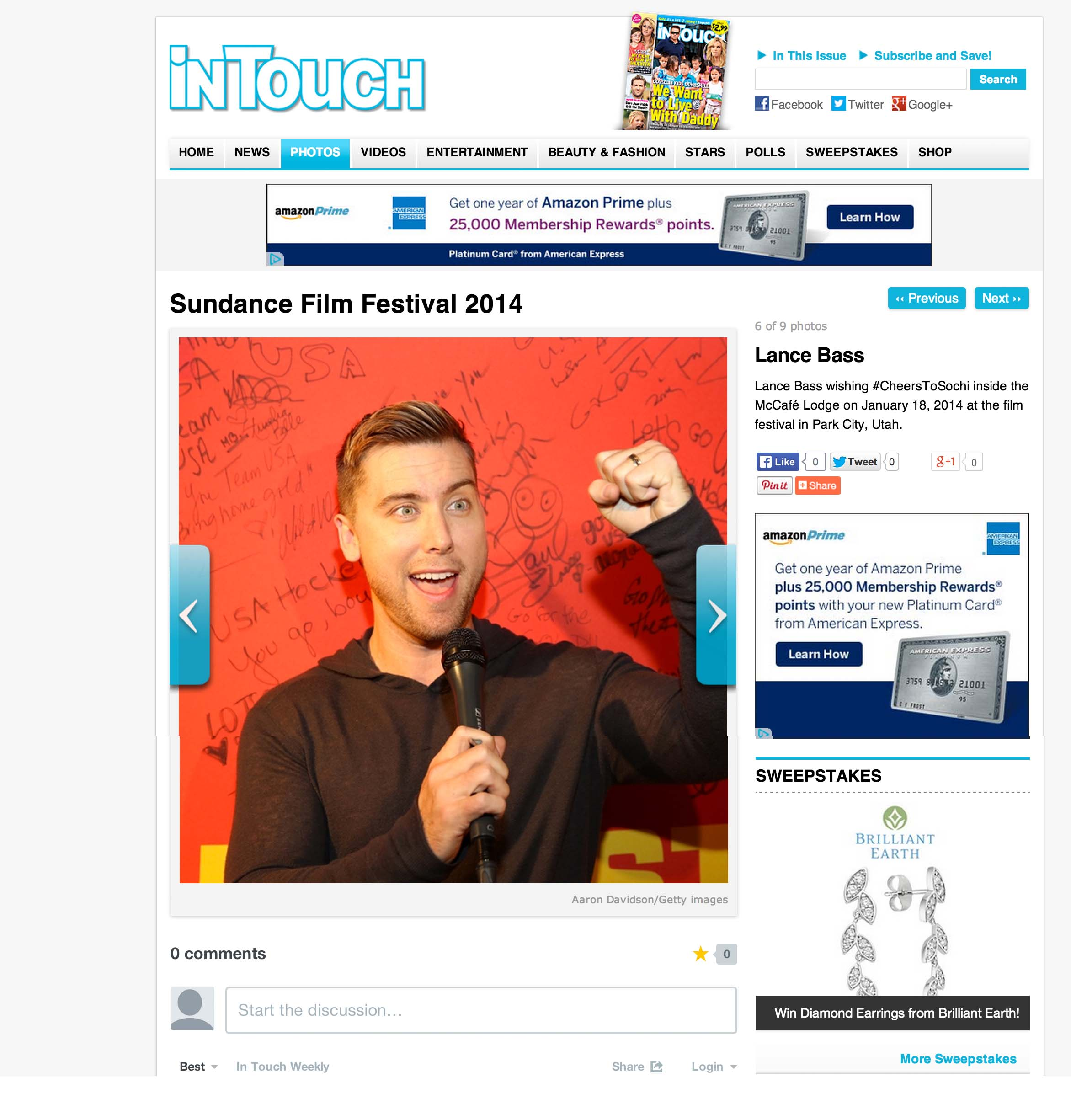 Lance Bass In Touch Weekly