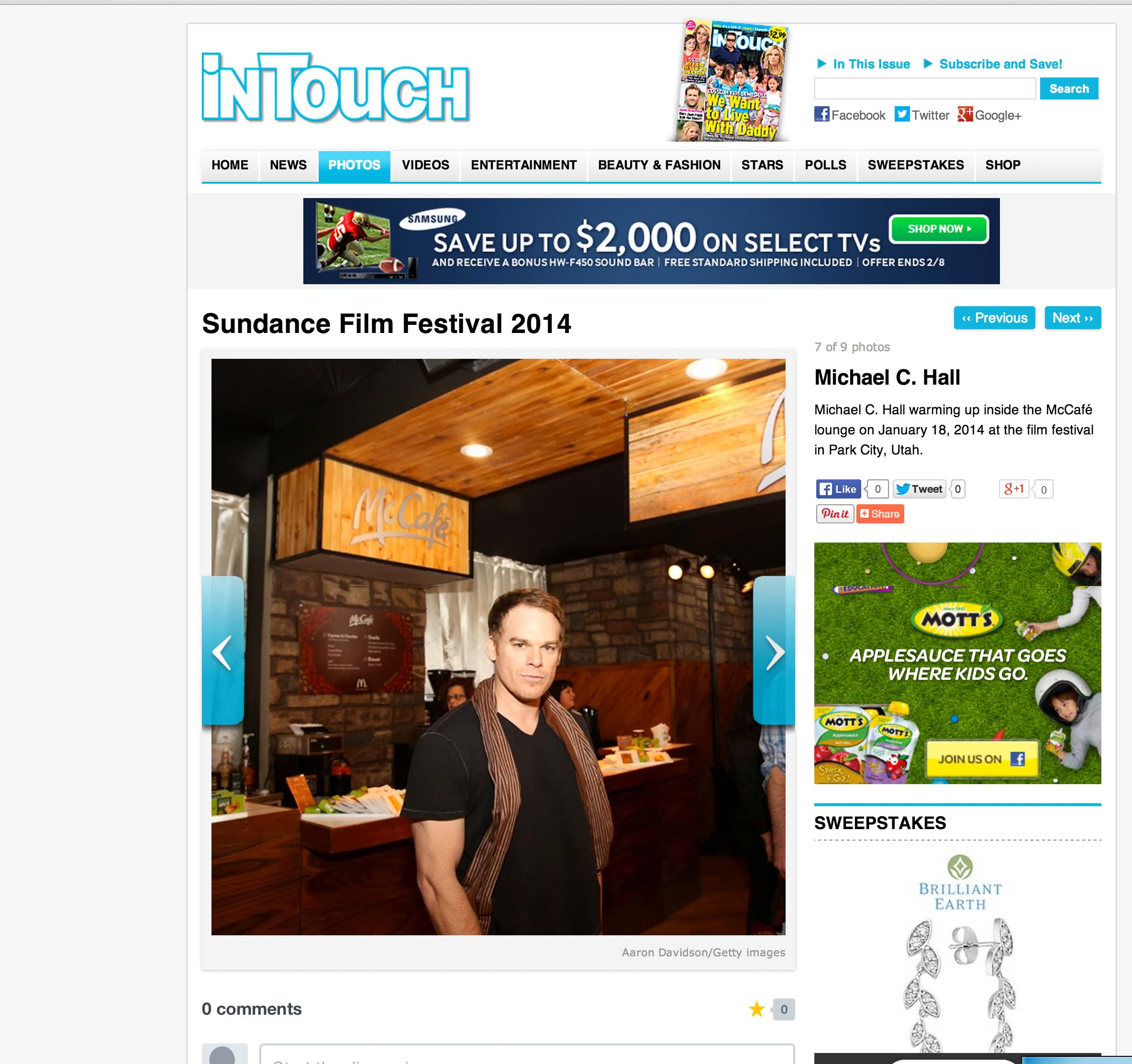 Michael C Hall In Touch Weekly