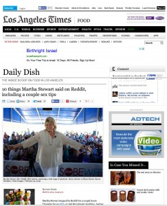 Martha Stewart LA Times Miami