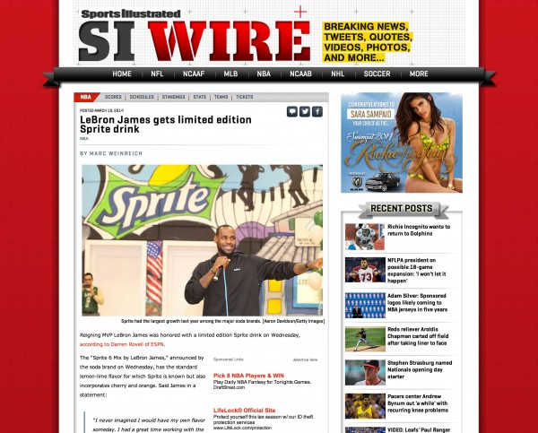Lebron James Sports Illustrated Miami