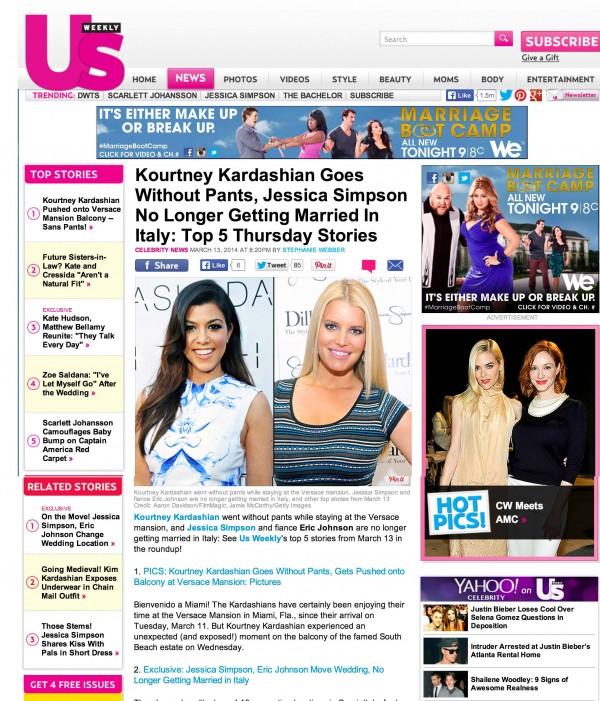 Kourtney Kardashian US Weekley Miami
