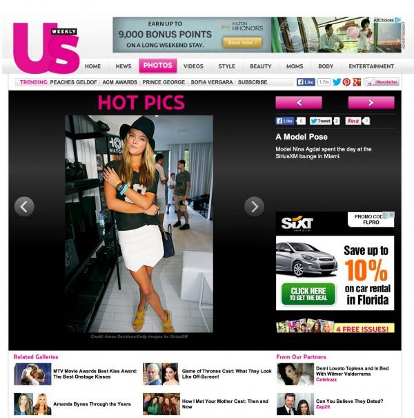Nina Agdal Us Weekly Miami