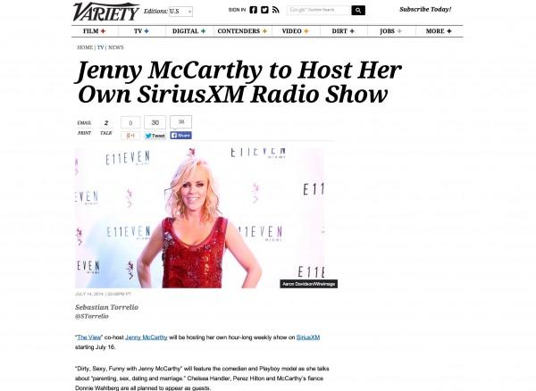 Jenny McCarthy Variety miami