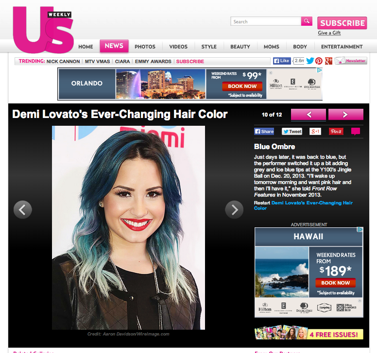 US Weekly Demi Lovato