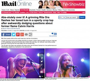 Rita Ora Miami Daily Mail
