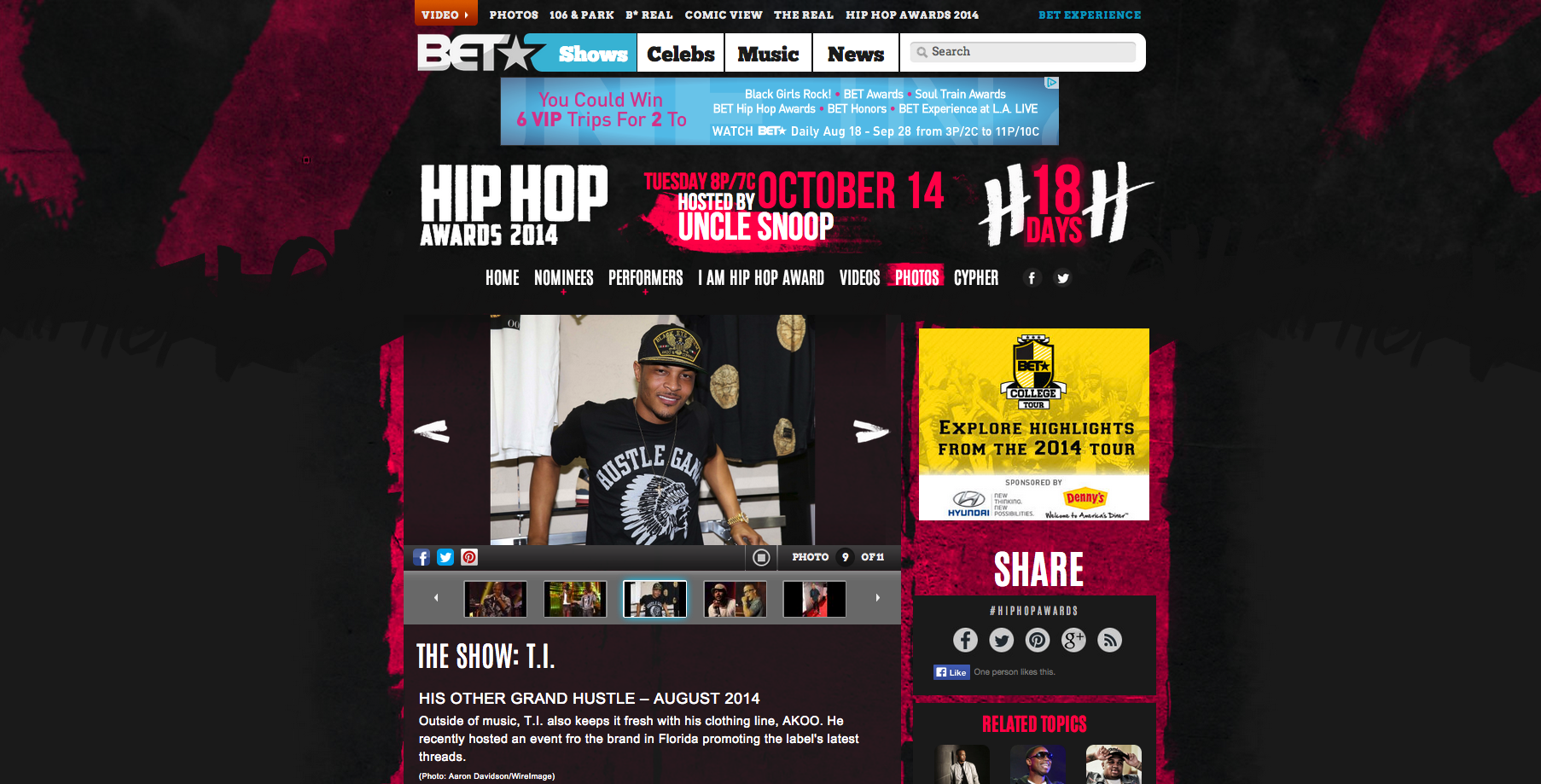 TI on BET.com