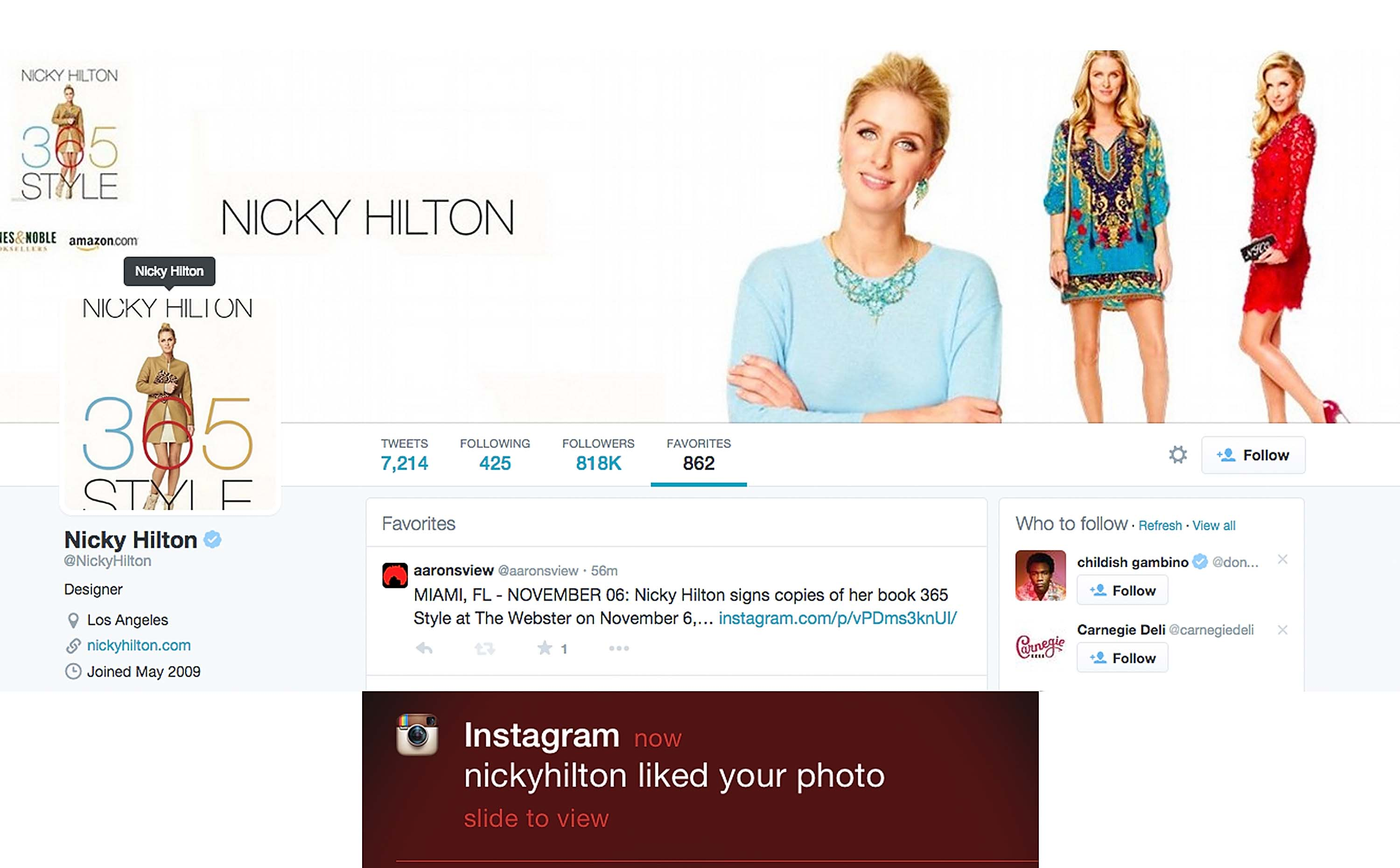 Nicky Hilton favoriting  photo