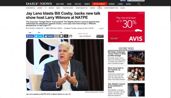 Jay Leno New York  Daily News