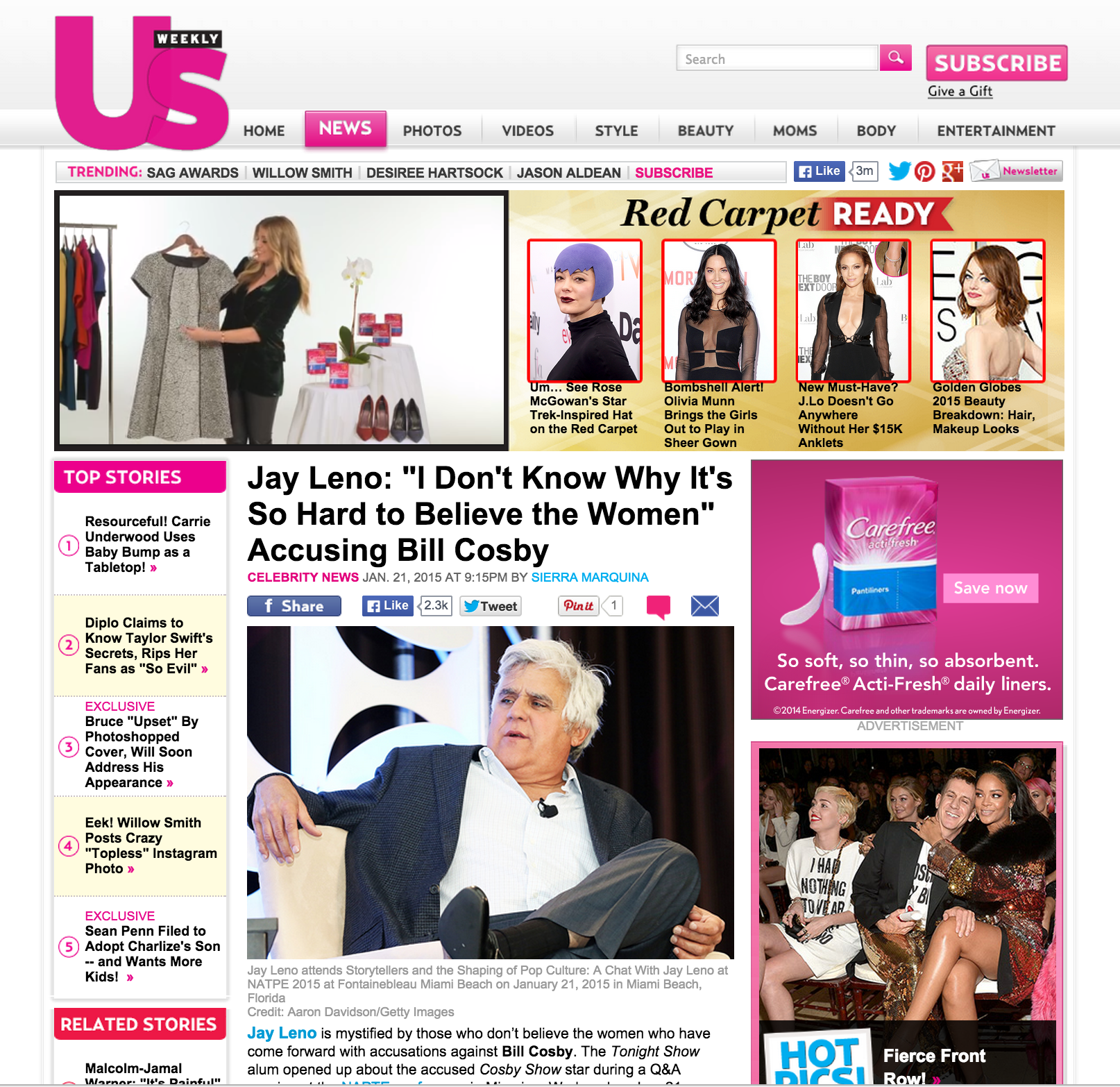 Jay Leno US Weekly