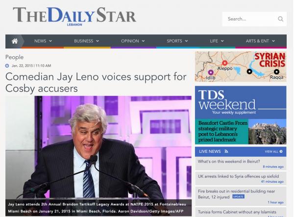 Jay Leno in Daily Star Lebanon