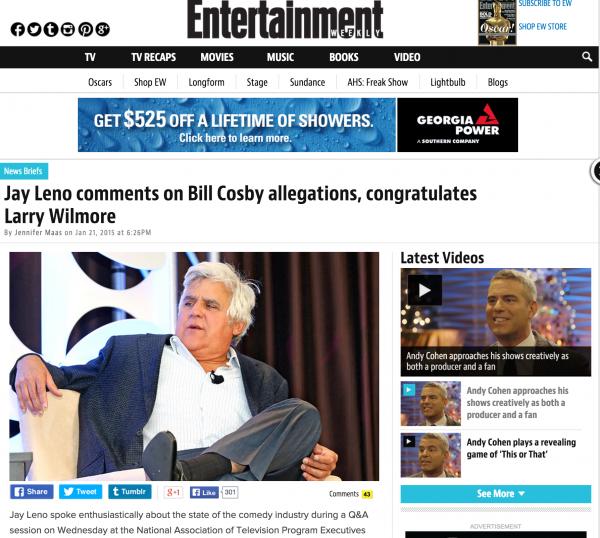 Jay Leno Entertainment Weekly