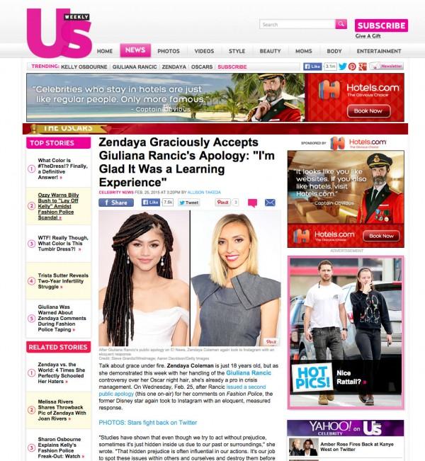 Giuliana Rancic Us Weekly,