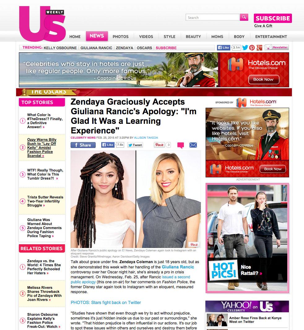 Giuliana Rancic Us Weekly