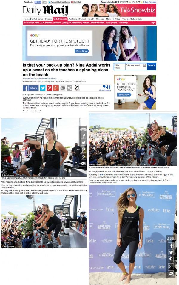 Nina Agdal Daily Mail Miami