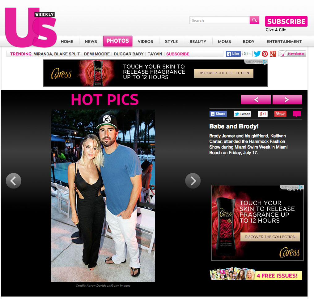 Brody Jenner Kaitlynn Carter US Weekly Miami