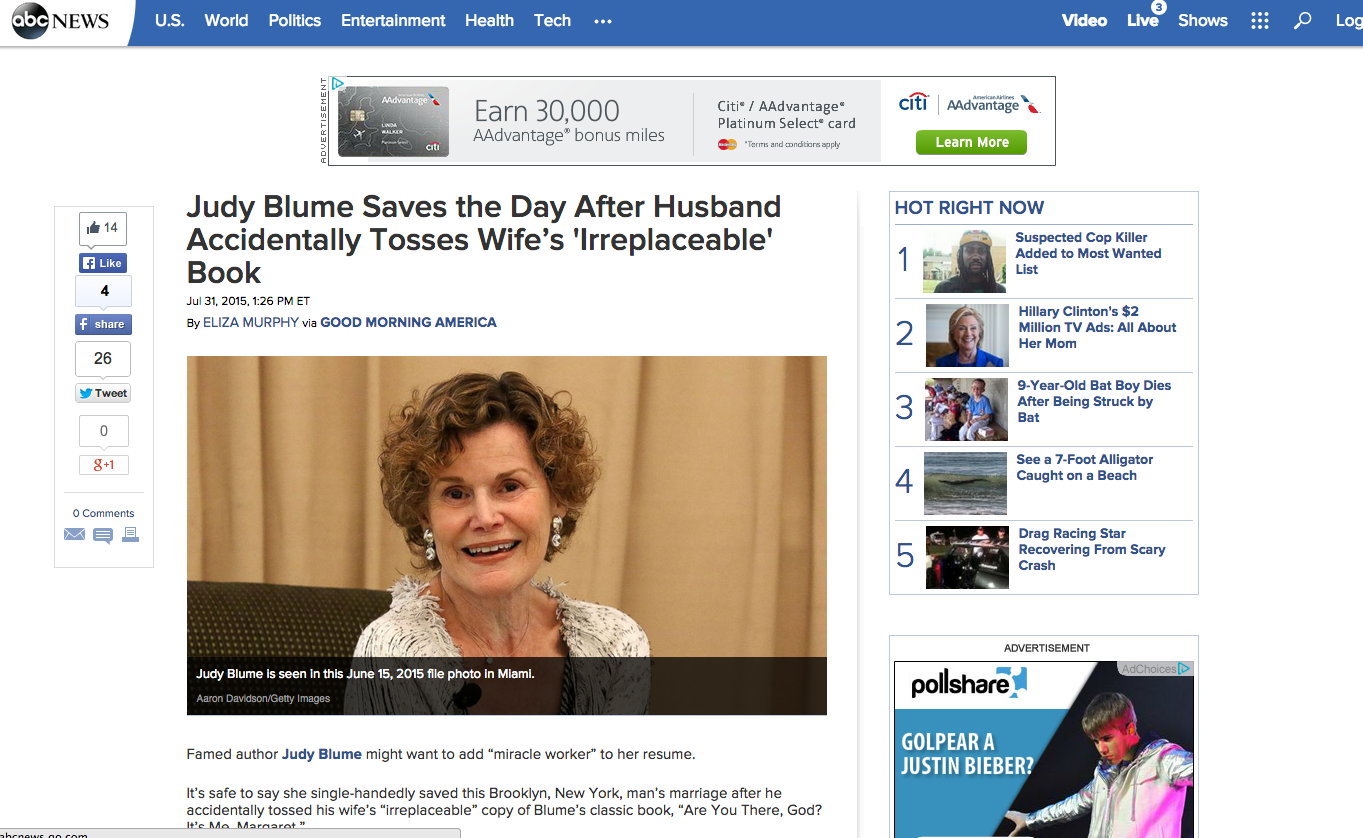 Judy Blume ABC News