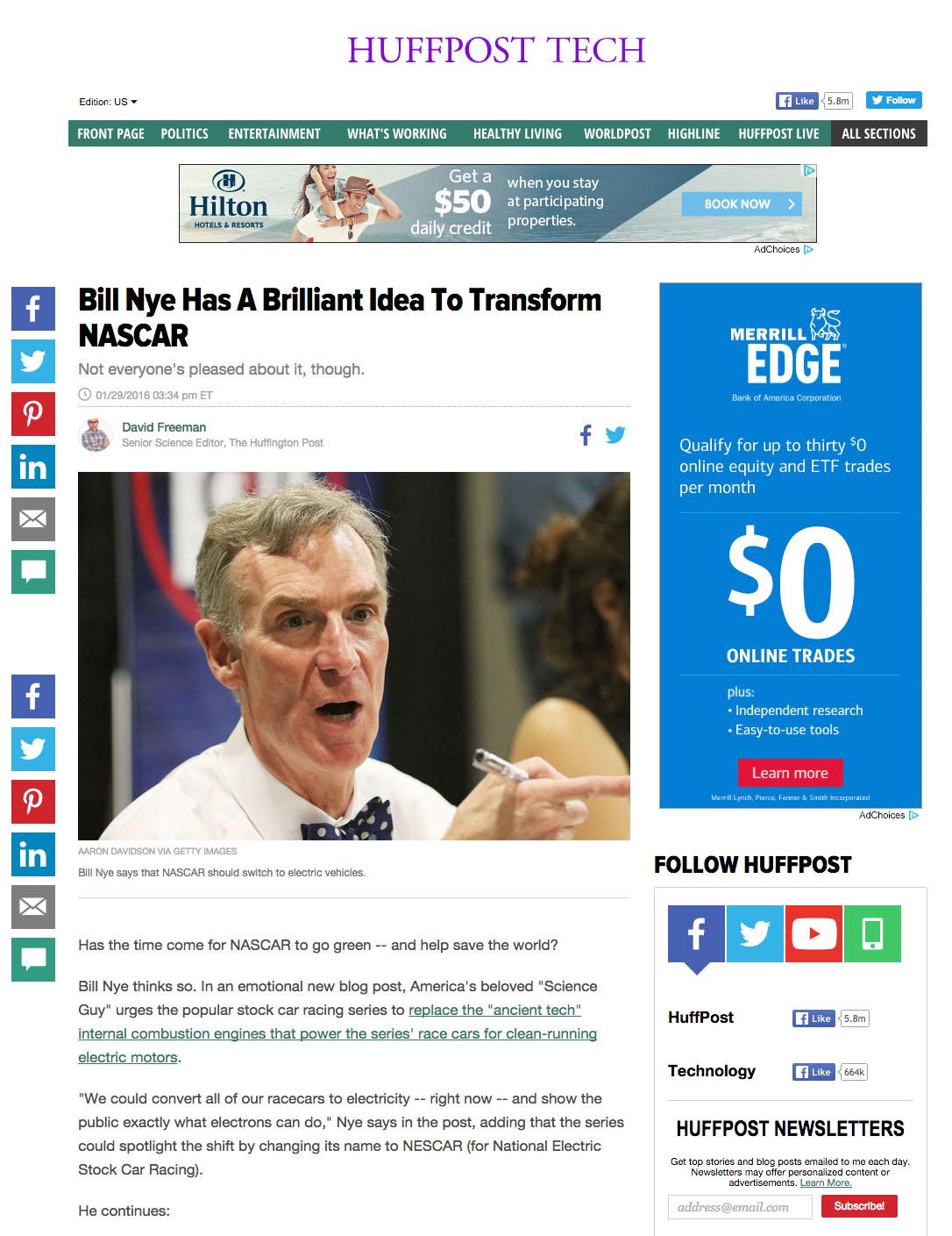 Bill Nye Huffington Post