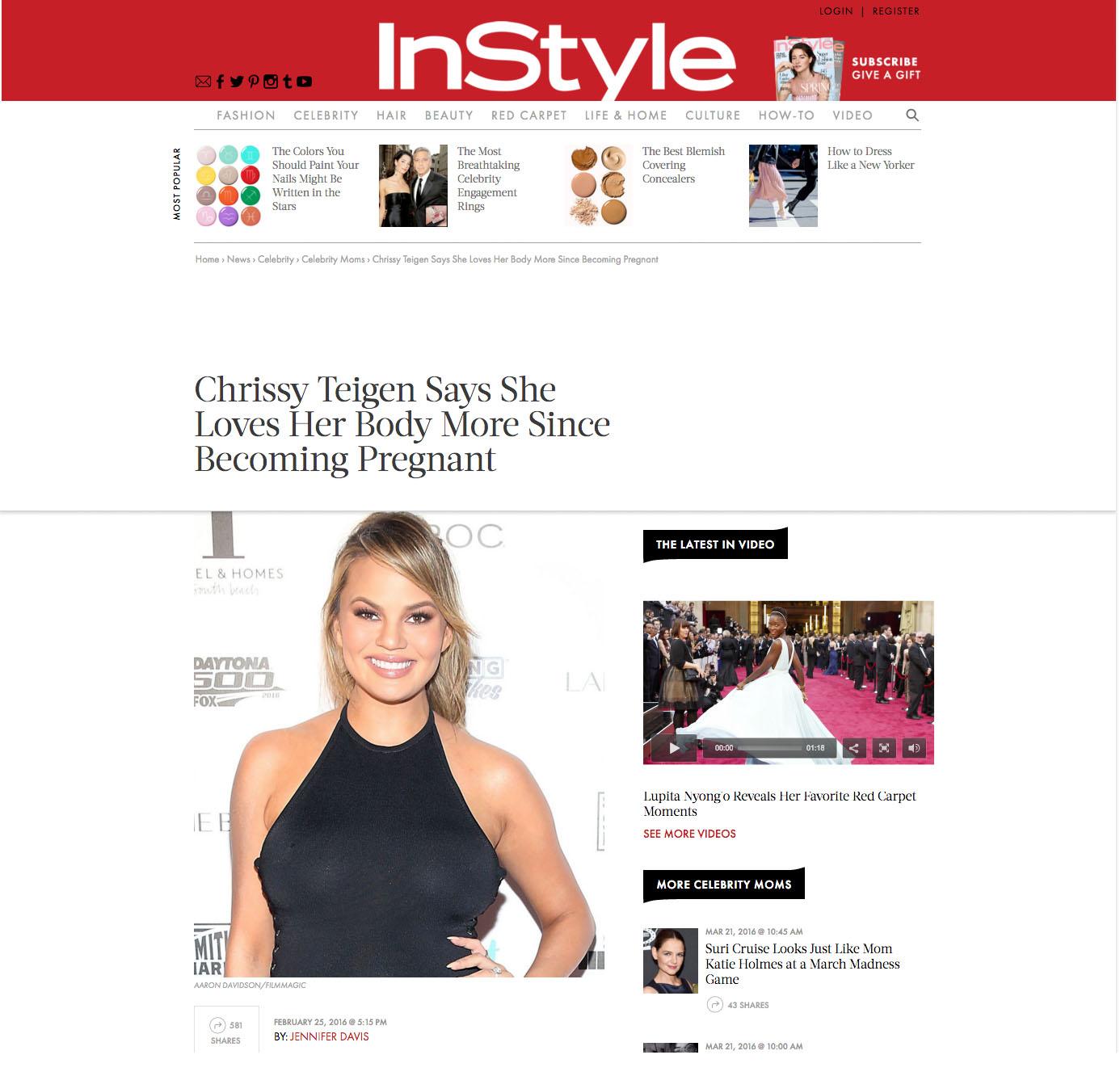 Chrissy Teigen Instyle