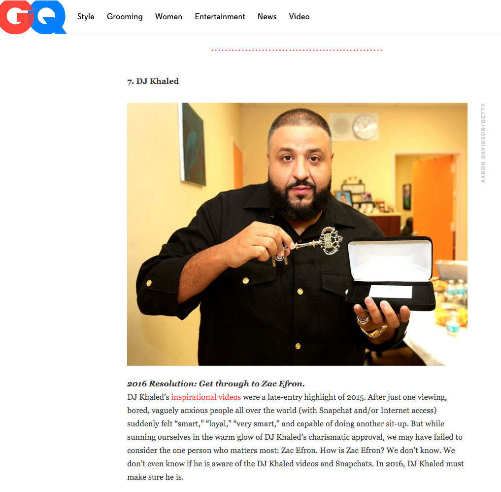 DJ Khaled GQ