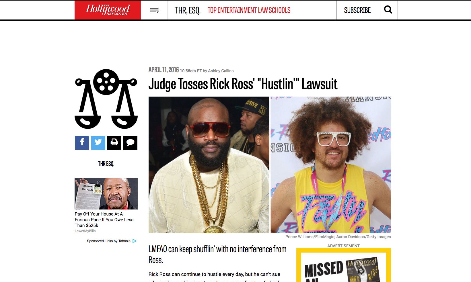 Rick Ross x Redfoo The Hollywood Reporter
