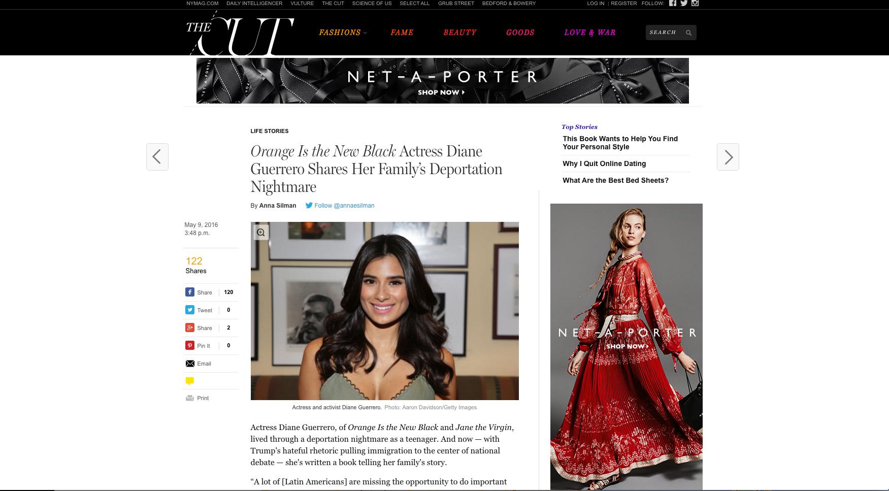 Diane Guerrero NY Magazine